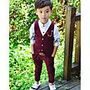 رخيصةأون تيشيرتات وتانك توب رجالي-مجموعة ملابس بدون كم لون سادة بسيط للصبيان طفل صغير