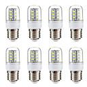 Недорогие Защитные пленки для Samsung-BRELONG® 8шт 3 W LED лампы типа Корн 270 lm E14 E26 / E27 24 Светодиодные бусины SMD 5730 Тёплый белый Белый 220-240 V