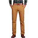 رخيصةأون قمصان رجالي-رجالي أساسي مناسب للبس اليومي تشينوز بنطلون - لون سادة برشام الربيع رمادي أخضر داكن كاكي 36 38 42