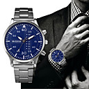 ieftine Produse Fard-Bărbați Ceas Elegant Oțel inoxidabil Negru / Argint Cronograf Analog Clasic Modă Elegant - Alb Negru Albastru / Alb Un an Durată de Viaţă Baterie / SSUO LR626