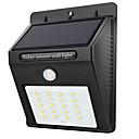 ieftine Aplice de Exterior-1 buc 2 W Lumini Solare LED Rezistent la apă / Senzor cu Infraroșii / Controlul luminii Alb 3.7 V Lumina Exterior 20 LED-uri de margele