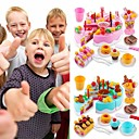Toy Kitchen Set Pretend Play Play Kitchen Holiday Family Cake Exquisite Parent-Child Interaction Kid's Boys' Girls' Toy Gift 75 pcs