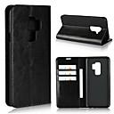 olcso Fülbevalók-Case Kompatibilitás Samsung Galaxy S9 / S9 Plus / S8 Plus Pénztárca / Kártyatartó / Ütésálló Héjtok Egyszínű Kemény Valódi bőr