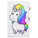 voordelige Galaxy Tab 3 10.1 Hoesjes / covers-hoesje Voor Samsung Galaxy Tab A 10.1 (2016) met standaard / Patroon / Auto Slapen / Ontwaken Volledig hoesje Cartoon Hard PU-nahka