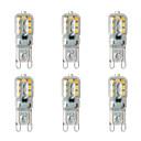 povoljno Maske/futrole za Nokiju-BRELONG® 6kom 2 W LED svjetla s dvije iglice 200 lm G9 14 LED zrnca SMD 2835 Toplo bijelo Bijela 220-240 V