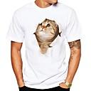 povoljno Ogrlice-Veći konfekcijski brojevi Majica s rukavima Muškarci - Ulični šik Dnevno 3D / Životinja Okrugli izrez Print Obala / Kratkih rukava / Ljeto