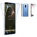 رخيصةأون حافظات / جرابات هواتف جالكسي S-غطاء من أجل Samsung Galaxy S9 / S9 Plus / S8 Plus شبه شفّاف غطاء كامل للجسم لون سادة ناعم TPU