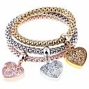 voordelige Oorbellen-3 stuks Dames Bedelarmbanden Kralenarmband Hart Modieus Legering Armband sieraden Regenboog Voor Feest Lahja