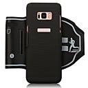 voordelige Galaxy S7 Edge Hoesjes / covers-hoesje Voor Samsung Galaxy S8 Plus / S8 SportArmband / Kaarthouder / Schokbestendig Armband Effen Zacht PC