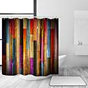 رخيصةأون أدوات الحمام-ستائر الحمام مع السنانير الملونة فن الخشب اللوح ريفي الرجعية خمر خشبية دش الستار ماء للحمام
