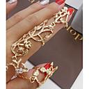 tanie Pierścionki-Damskie Pierścień oświadczenia Zestaw dzwonków Złoty Srebrny Stop Nieregularny Duże Ponadgabarytowych Ślub Party Wieczór Biżuteria Niedopasowany Kwiat