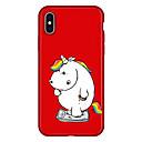رخيصةأون أغطية أيفون-غطاء من أجل Apple iPhone X / iPhone 8 Plus / iPhone 8 نموذج غطاء خلفي آحادي القرن / كارتون ناعم TPU