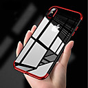 رخيصةأون أغطية أيفون-غطاء من أجل Apple iPhone XS / iPhone XR / iPhone XS Max تصفيح / نحيف جداً / الجسم شفافة غطاء خلفي لون سادة ناعم TPU