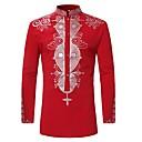 povoljno Halloween smink-Majica Muškarci Dnevno Etno Kineski ovratnik Print Red / Dugih rukava