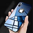 رخيصةأون أغطية أيفون-غطاء من أجل Apple iPhone X / iPhone 8 Plus / iPhone 8 مرآة غطاء خلفي لون سادة قاسي زجاج مقوى