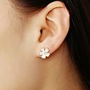 cheap Earrings-Women's Stud Earrings Flower Ladies Simple Sweet Earrings Jewelry Pink For Gift Daily