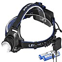 cheap Headlamps-XML-T6 Headlamps Headlight 1000 lm LED Emitters 3 Mode with Batteries and Charger Camping / Hiking / Caving Cycling / Bike Fishing Black