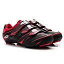 رخيصةأون أغطية الأحذية-Tiebao® Road Bike Shoes ألياف الكربون مكافح الانزلاق ركوب الدراجة أسود / أحمر رجالي أحذية الدراجة / شبكة قابلة للتنفس / هوك وحلقة