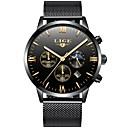 ieftine Ceasuri Bărbați-Bărbați Ceas Elegant Japoneză Oțel inoxidabil Negru / Auriu / Roz auriu 30 m Rezistent la Apă Calendar Creative Analog Lux Clasic - Auriu Auriu / Negru Negru / Roz auriu Doi ani Durată de Via
