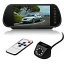 رخيصةأون جهاز فيديو DVR للسيارة-ziqiao 7 بوصة لون tft lcd رصد سيارة مرآة الرؤية الخلفية و 8 led ccd hd للماء كاميرا الرؤية الخلفية السيارة