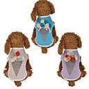ieftine Accesorii Animale Mici-Câini Pisici Γιλέκο Îmbrăcăminte Câini Mov Roz Costume Mops Bichon Frise Pechinez Bumbac / Poliester Flori Înghețată Floral Sweet Style Casul / Zilnic S M L