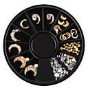 ieftine Îngrijire Unghii-1 pcs Bijuterie unghii Proiectat special nail art pedichiura si manichiura Casul / Zilnic Metalic / Stras / Unghiul de bijuterii
