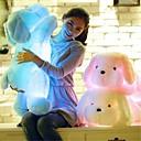 رخيصةأون مخففات التوتر-رومانسية كلاب حيوانات محشية ضوء LED محبوب مريح LED للجنسين للفتيات ألعاب هدية 1 pcs