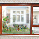 رخيصةأون الستائر-فيلم نافذة وملصقات زخرفة معاصر شخصية PVC ملصق النافذة / بدون لمعة