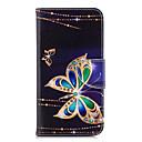 voordelige Huawei Y-serie hoesjes / covers-hoesje Voor Huawei Huawei P20 / Huawei P20 lite / P10 Lite Portemonnee / Kaarthouder / met standaard Volledig hoesje Vlinder Hard PU-nahka