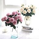 povoljno Umjetno cvijeće-Umjetna Cvijeće 1 Podružnica Cvijeće za vjenčanje Pastoral Style Roses Cvjeće za stol