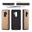 رخيصةأون حافظات / جرابات هواتف جالكسي S-غطاء من أجل Samsung Galaxy S9 / S9 Plus / S8 Plus اصنع بنفسك غطاء خلفي لون سادة ناعم جلد PU