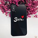 رخيصةأون أغطية أيفون-غطاء من أجل Apple iPhone X / iPhone 8 Plus / iPhone 8 ضد الصدمات غطاء خلفي جملة / كلمة / قلب قاسي زجاج مقوى