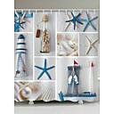 cheap Bathroom Gadgets-Shower Curtains & Hooks Contemporary Modern Polyester Novelty Machine Made Waterproof Bathroom