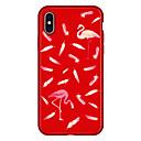 povoljno Jastuci-Θήκη Za Apple iPhone X / iPhone 8 Plus / iPhone 8 Uzorak Stražnja maska Flamingo / Životinja / Crtani film Mekano TPU