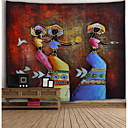 رخيصةأون أزهار اصطناعية-معمارية جدار ديكور البوليستر قديم جدار الفن, سجاد الحائط زخرفة