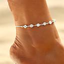ieftine Bijuterii de Corp-Pentru femei Zirconiu Cubic diamant mic Brățară Gleznă picioare bijuterii femei Boem Modă Boho Brățară Gleznă Bijuterii Auriu / Argintiu Pentru Cadou Bikini