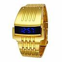 رخيصةأون ساعات الرجال-رجالي ساعة رياضية ساعة رقمية كوارتز أسود / فضة / ذهبي مقاوم للماء رقمي ترف موضة - ذهبي أسود فضي