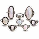 povoljno Prstenje-Žene Prestenje knuckle ring Opal Moonstone 8pcs Srebro Legura Geometric Shape dame Neobično Jedinstven dizajn Dnevno Jabuka Jewelry Geometrijski