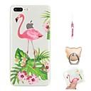 رخيصةأون أغطية أيفون-غطاء من أجل Apple iPhone X / iPhone 8 Plus / iPhone 8 نموذج غطاء خلفي البشروس طائر مائي / حيوان ناعم TPU
