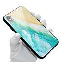 رخيصةأون أغطية أيفون-غطاء من أجل Apple iPhone X / iPhone 8 Plus / iPhone 8 نموذج غطاء خلفي منظر قاسي زجاج مقوى