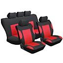 رخيصةأون خواتم-أغطية مقاعد السيارات أغطية المقاعد أحمر منسوجات عادي من أجل عالمي عالمي