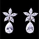 povoljno Naušnice-Žene Kubični Zirconia Klipse Cvijet Moda Elegantno Naušnice Jewelry Obala Za Vjenčanje Večer stranka 1