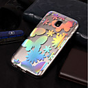 رخيصةأون حافظات / جرابات هواتف جالكسي S-غطاء من أجل Samsung Galaxy J7 (2017) / J7 (2016) / J7 IMD / نموذج غطاء خلفي فراشة ناعم TPU