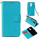 رخيصةأون LG أغطية / كفرات-غطاء من أجل LG LG X Style / LG V30 / LG V20 محفظة / حامل البطاقات / مغناطيس غطاء كامل للجسم لون سادة قاسي تقليد الجلد