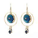 povoljno Ženski satovi-Sintetički tanzanit Viseće naušnice Csillag dame Moda Naušnice Jewelry Plava Za Dnevno Izlasci