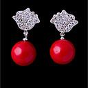 ieftine Carcase iPhone-Pentru femei Zirconiu Cubic Cercei Stud Inimă Dulce Modă cercei Bijuterii Rosu Pentru Nuntă Logodnă 1