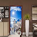 رخيصةأون Xiaomi أغطية / كفرات-البحر الأبيض المتوسط مشهد الباب ملصقات الديكور باب صائق ديكور للماء