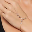 ieftine Ring Bracelets-Pentru femei Ring Bracelets Plutire Sclavii de aur femei Vintage Modă MetalPistol Bijuterii brățară Auriu Pentru Dată Stradă