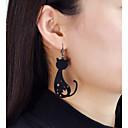 ราคาถูก ตุ้มหู-Drop Earrings แมว Flower Star สุภาพสตรี แฟชั่น ต่างหู เครื่องประดับ สีทอง / สีดำ สำหรับ ทุกวัน เดท