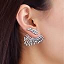 ieftine Colier la Modă-Cercei Față & Spate femei Modă cercei Bijuterii Argintiu Pentru Zilnic Dată